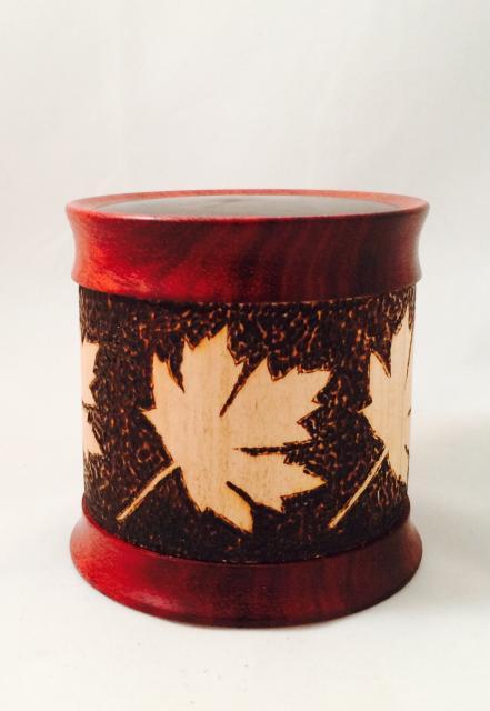 Maple, Paduk Pyrography $125